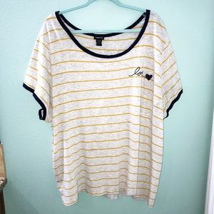 """Torrid Women's """"Love"""" Embroidered Top Size 5"""